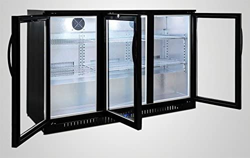 Procool Refrigeration 3-door Glass Front Back Bar Beverage Cooler 54 Wide