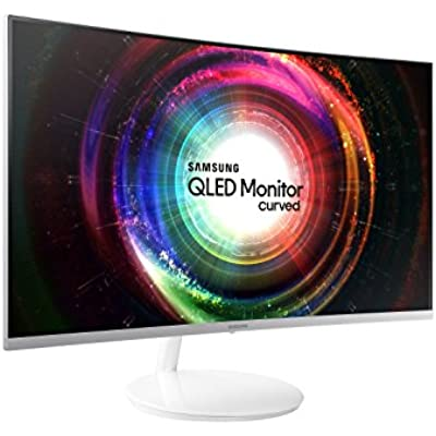 Samsung LC32H711QEUXEN 32-Inch WQHD 2560 1440 Side Bezel-Less Curved Monitor Metallic Silver