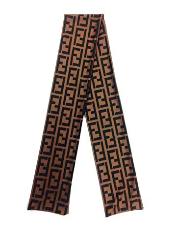 Slippery Apparel | Designer Head Wrap Headband (More Colors) Durags LV Supreme Ape & More - (Brown Fendi) from Slippery Apparel