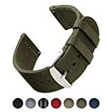Archer Watch Straps | Premium Nylon Quick Release Replacement Watch Bands for Men and Women, Watches and Smartwatches (Olive, 20mm)