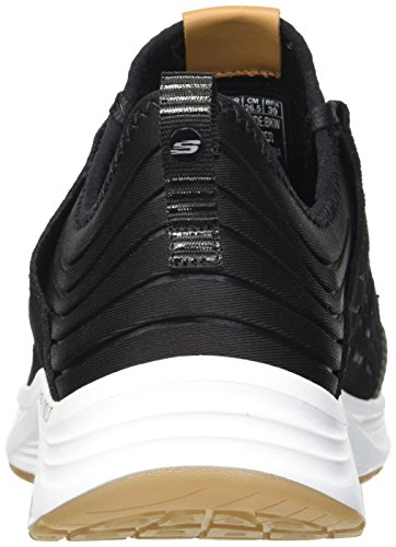 Black Laced Skechers Suede Skyline White Bkw wHgfIOq