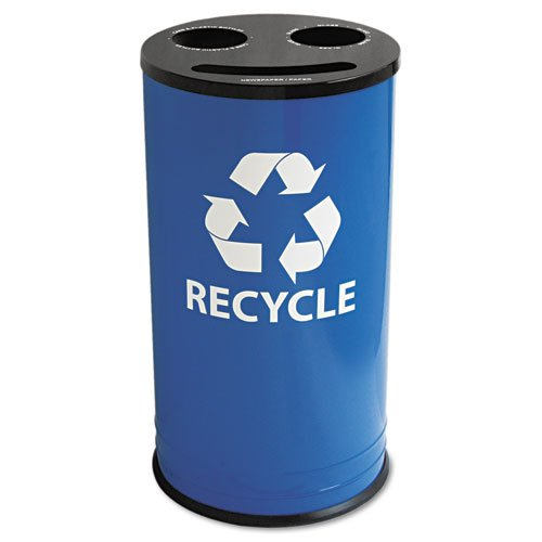 EXCRC15283RBL - Round Three-Compartment Recycling Container