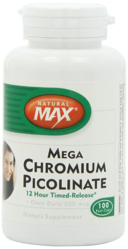 Naturalmax Mega пиколинат хрома, 12 ч Тр, 100-Граф
