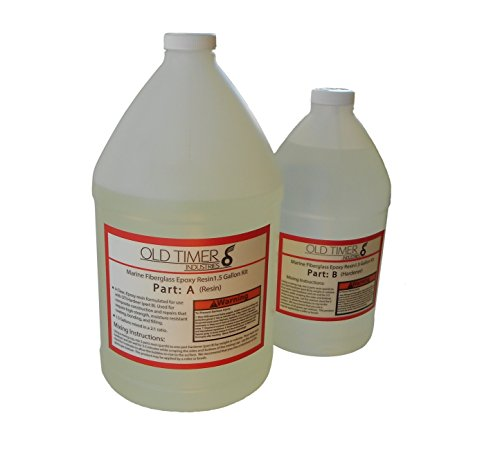 Epoxy Resin Polyester (Old Timer Industries Fiberglass Epoxy Resin 1.5 Gal Kit. Marine Grade Epoxy Resin)