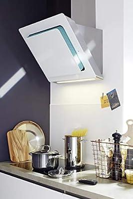 Silverline Pop De Out Premium PPW 893 W/pared Campana/acero inoxidable/cristal/blanco/80 cm/Borde aspiración/A +: Amazon.es: Grandes electrodomésticos