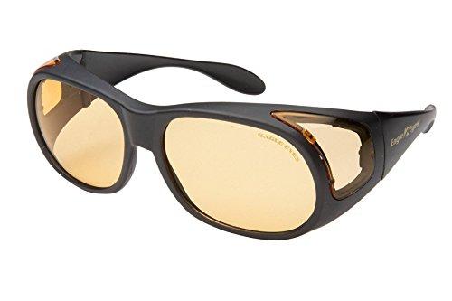 Eagle Eyes StimuLight Low Light Vision Boosters FITONS,Matte Black Frame/Light Orange Lens,one size by Eagle Eyes