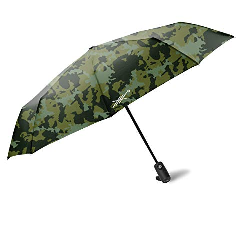 Extreme Degrees Travel Umbrella with Weatherproof Coating. Folds to 11.5 Inches. (Camo)
