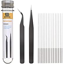 3D Printer Nozzle Cleaning Kit - 0.4mm Needles and Tweezers Cleaner Toolkit for 3D Printers - 3D Printing Tools - 3D Printer Accessories