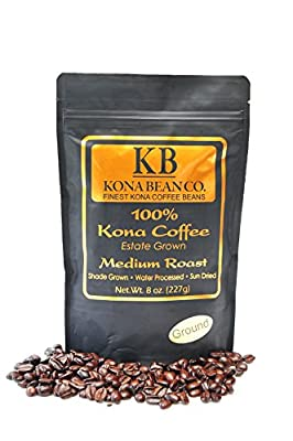 Kona Bean Co. 100% Kona Coffee Estate Grown - Medium Roast - Ground 8oz