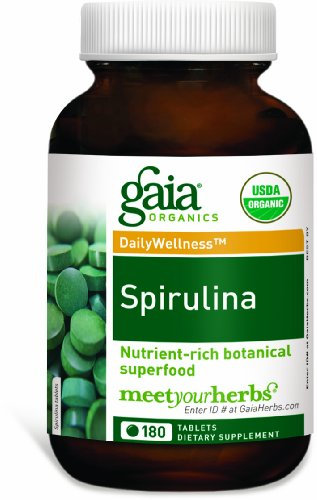 Gaia Herbs Spirulina Tablets 180 Count