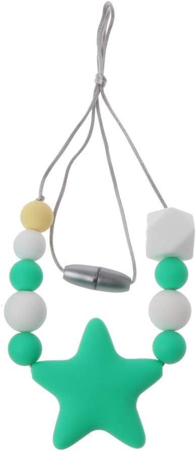 Montessori Perles De Silicone B/éb/é Teether Anneau De Pendentif DIY Bracelet Bijoux Jouets Sensoriels Cadeau HR-COME Jouet De B/éb/é Hochet Anneau Dentition