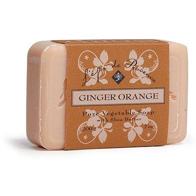 12 Bars of L'epi de Provence Triple Milled Ginger Orange Shea Butter Vegetable Soaps from France ()