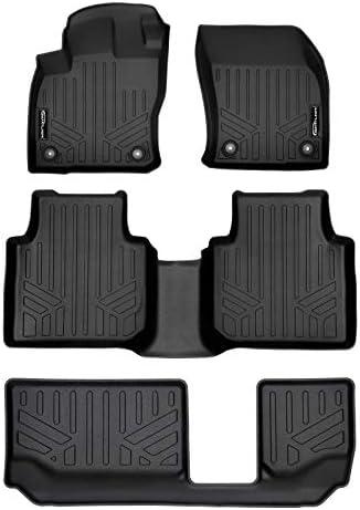 MAXLINER Custom Fit Floor Mats 3 Row Liner Set Black for 2018-2021 Volkswagen Tiguan with 3rd Row Seats – 7 Passenger Model