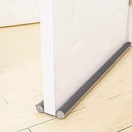 WILLBAN - Tapón para puertas en color gris – se puede cortar a medida – Protección de doble cara contra corrientes de aire – Tira de sellado flexible para la parte inferior de la puerta