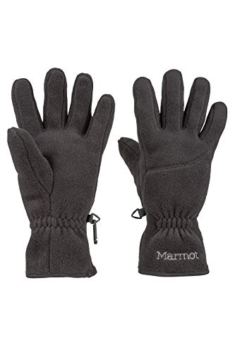 Marmot Women's Fleece Glove, Large, Black (Marmot Glide Soft Shell Gloves)