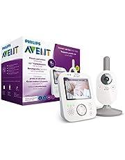 Philips Avent Digitale Videobabyfoon - 3,5 inch kleurenscherm met 2x zoom - Beveiligde verbinding - Terugspreekfunctie - Slaapliedjes - Nachtlampje - Vibratiemodus - Temperatuursensor - SCD843/26 - Wit
