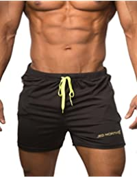 Men's Fitted Shorts Bodybuilding Workout Gym Running Tight Lifting Shorts