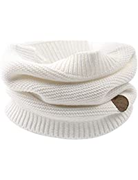 Cutegogo Kids Infinity Scarf Baby Boys Girls Knitted Winter Warm Circle Neckerchief in Autumn Winter (White)