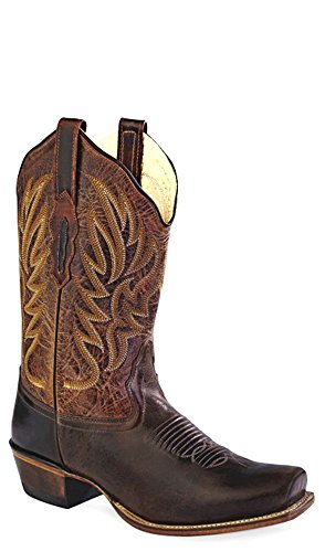 Old West Boots Women's 18002 Dark Brown/Brown 8 B US