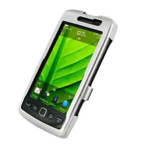 Monaco BlackBerry Torch 9850 9860 Monaco Aluminum Case - Open Screen Design - Non-Retail Packaging - Silver (Monaco Blackberry Case)