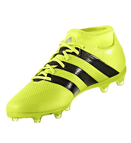 adidas Men's Ace 16.2 Primemesh Fg/Ag Soccer Shoe, Solar Yellow/Black/Metallic Silver, 13 M (Adidas Copa Mundial Soccer Cleat)