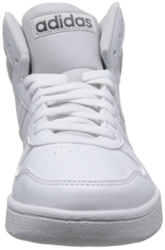 adidas Vs Hoops Mid 2.0, Sneaker a Collo Alto Uomo Bianco (Footwear White/Footwear White/Grey One)