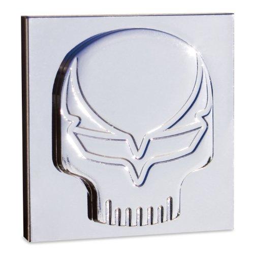 Badge Billet (Corvette Speed Demon Skull Billet Chrome Badges 2 Pc. (Pair))