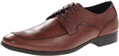 Kenneth Cole REACTION Mens Ghost Trace Oxford Brown