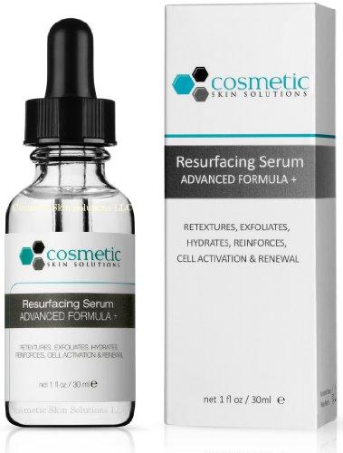 Best Resurfacing Serum Advanced Formula + 1 fl oz / 30 ml - Exfoliates, retextures, activates, replenishes, & hydrates.