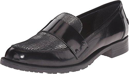 Dune London Women's Granada Black Leather Loafer 37 (US Women's 6) B - Granada Leather Black