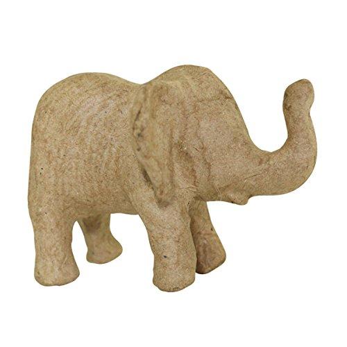 décopatch Decopatch Mache Baby Elephant, 10 x 7 x 8 cm-Brown, 10x8x7cm