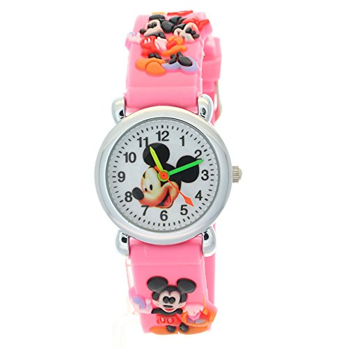 (TimerMall Mickey Mouse Pink Children Analogue And Quartz Watches )