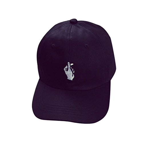 [YIWULA Adult Fashion Caps Baseball Adjustable Caps (black)] (Hip Hop Felt Hat With Feather)