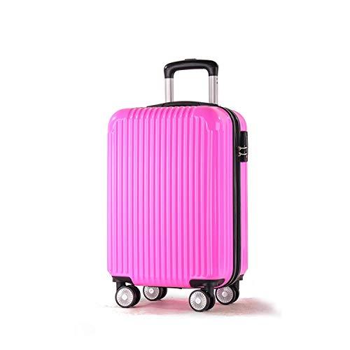 スーツケース、ABS + PC素材、スーツケーストローリーケースユニバーサルホイールロックボックス  レッド B07MQQPT2T