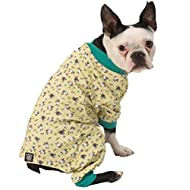 PetRageous Counting Sheep Pjs, Yellow Multi, Small