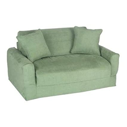 Amazoncom Fun Furnishings Sofa Sleeper Green Micro Suede Kitchen
