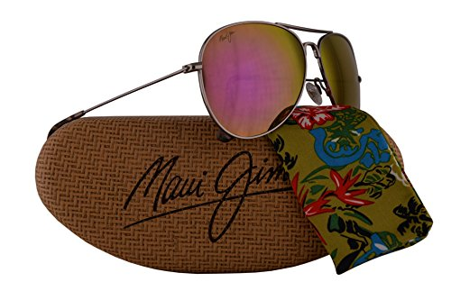 Maui Jim Mavericks Sunglasses Rose Gold w/Polarized Maui Sunrise Lens - Jim Scratch Warranty Maui