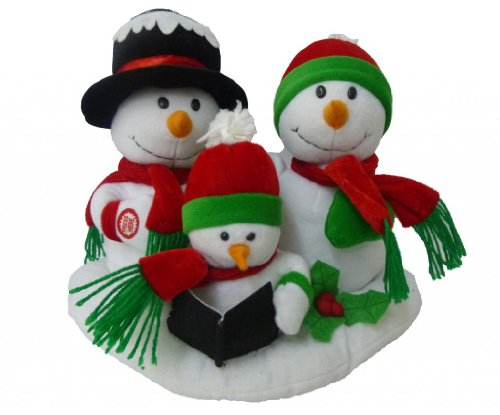 Dancing Snowman (Singing Snowman Family Trio Polyester Musical Animatronic Plush Toy Christmas Collectible)