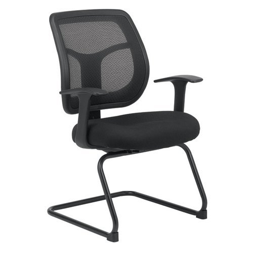 Eurotech Apollo Mesh Back Guest Chair - 18.9'' Seat Height - Black by Eurotech