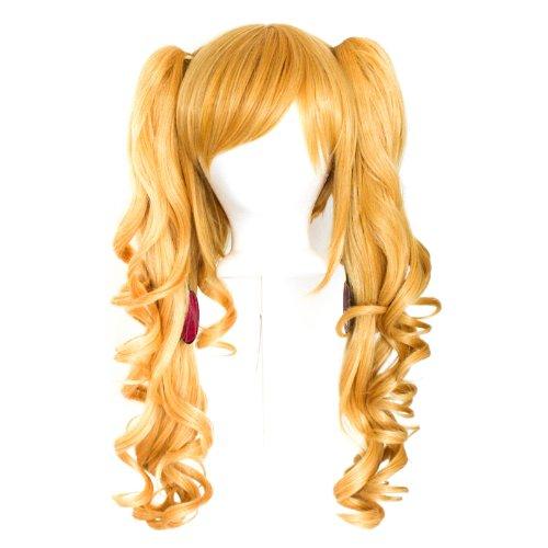 Sayuri - Butterscotch Blonde Blend Wig 23'' Curly Pig Tails + 12'' Bob Cut Base Wig - Butterscotch Base