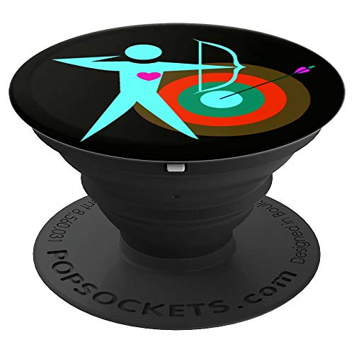 Archery Target Archer Bow and Arrow Archery Release Design - PopSockets Grip and Stand for Phones and Tablets