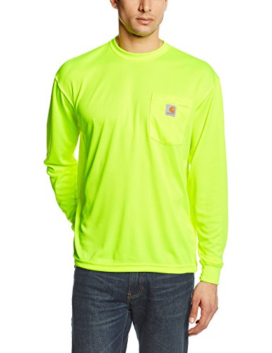 Carhartt Men's High Visibility Force Color Enhanced Long Sleeve Tee,Brite - Dry Work Carhartt