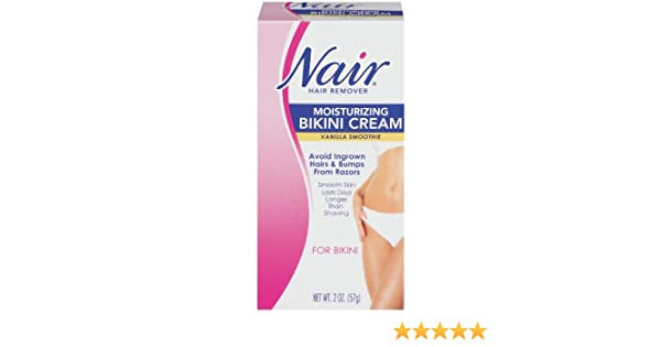 Amazon.com: Nair Hair Remover Bikini Creme, Vanilla Smoothie - 2 oz: Beauty