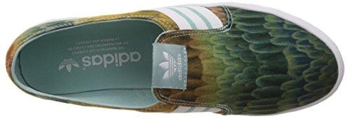 adidas Adria PS Slip-On Damen Slipper Grün (Clear Green S12/Ftwr White/Clear Green S12)
