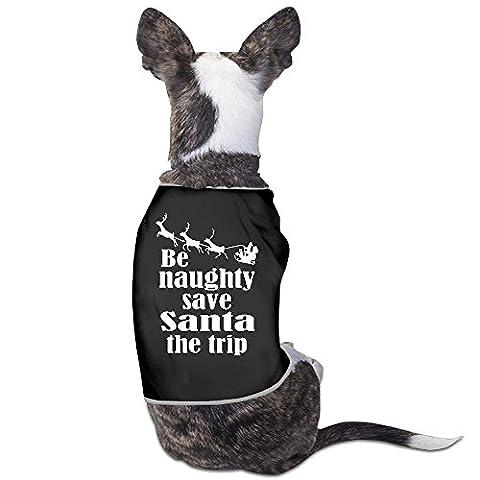 YRROWN Be Naughty Save Santa The Trip Dog Sweater