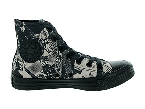 Converse Women's Chuck Taylor All Star Pop Art Print Hi Parchment/Bl Basketball Shoe 8 Women US