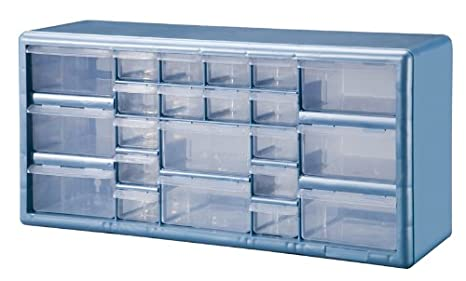 Charming Stack On DSLB 22 22 Bin Plastic Drawer Parts Storage Organizer Cabinet,  Light