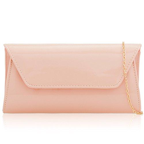 Party Patent Vinyl Xardi Handbags Blush Over Leather Flap Large Finish Women Clutch Baguette London Bag For qARTvAwEOx