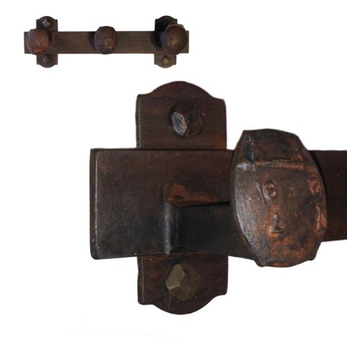 Cobre Railroad Spike Coat Rack 3 Hook, Blackened Bronze Hand Rubbed Finish