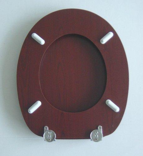 Adob 12250/Abattant WC en bois avec charni/ères en laiton acajou 82303